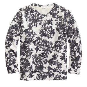 {J. Crew} Photo floral sweatshirt
